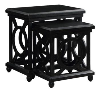 Walden Distressed Black Nested Tables