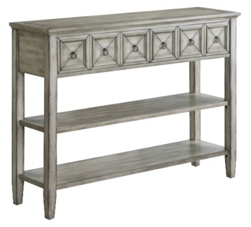 Bledsoe 2 Drawer White Ash Console