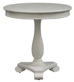 Newport Coastal White Round Accent Table