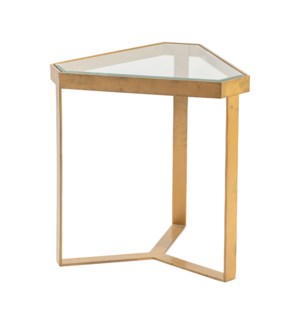Melrose Gold Triangle Accent Table