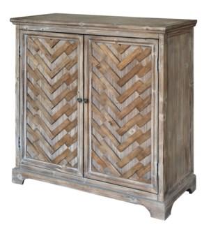 Herringbone Rustic 2 Door Cabinet