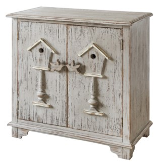 Birdhouse 2 Door Distressed Grey Cabinet