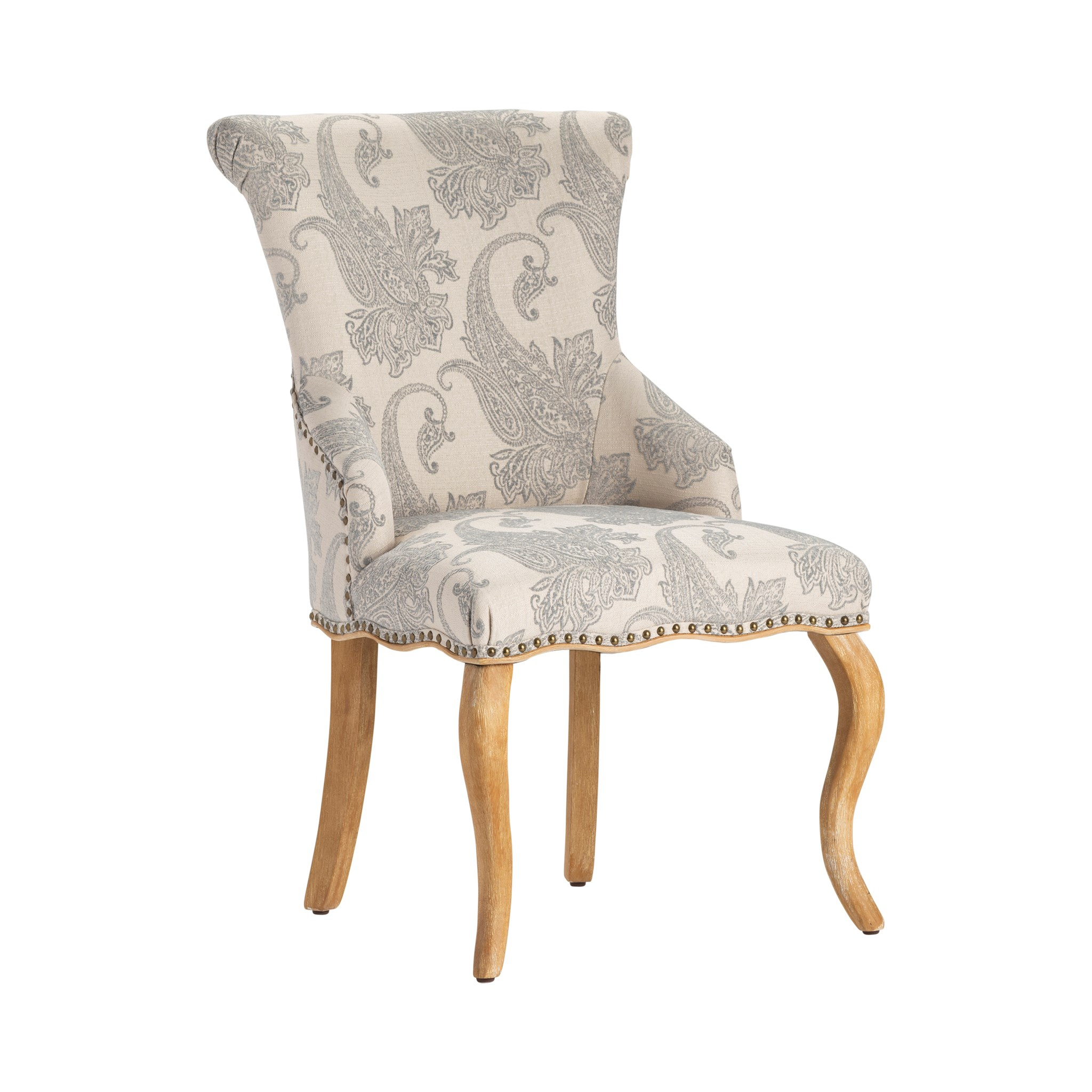 Astounding Danielle Paisley Upholstered Accent Chair With Distressed Wood Legs Ibusinesslaw Wood Chair Design Ideas Ibusinesslaworg