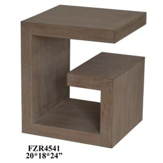 Super G Natural Oak Veneer Accent Table