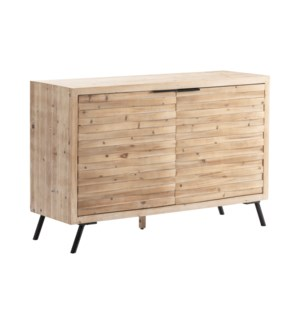 Ayrton 2 Door Natural Finish Ribbed Cabinet
