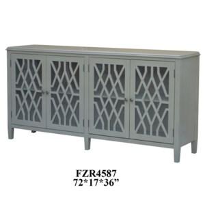 Stratford 4 Door Pale Grey Fretwork Sideboard