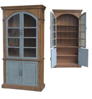 Prescott Two Tone 4 Door Curio Cabinet