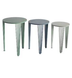 Isle of Palms Multi Colored Set of Nested Tables
