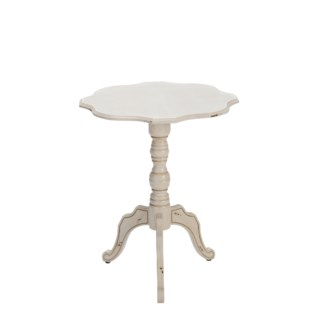 Ashleigh Scalloped Ant White Accent Table