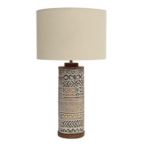 Taos Carved Table Lamp