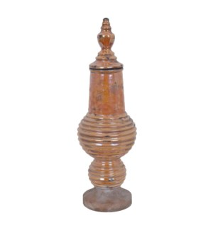 Large Citron Lidded Vase