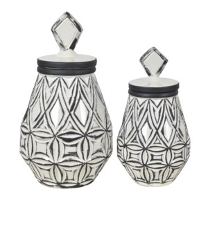 Geometrical Farm House Vases,Set of 2