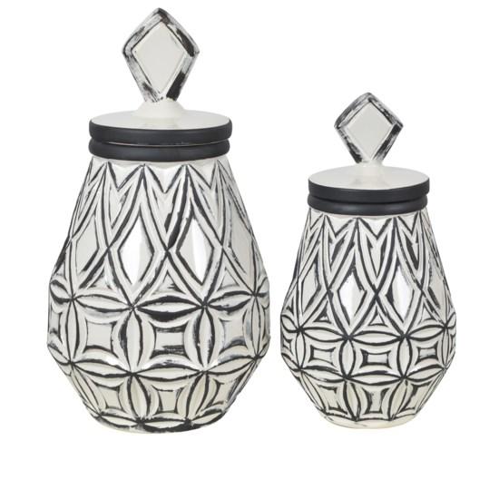 Geometrical Farm House Vases,Set of 2