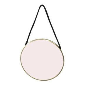 Medium Hadley Brass Round Mirror