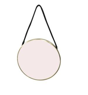 Small Hadley Brass Round Mirror