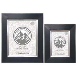 Black & Silver Photo Frame Set