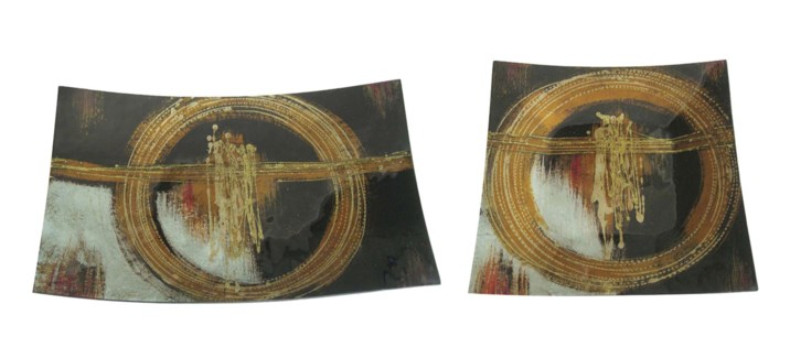 Cross Spin Glass Trays