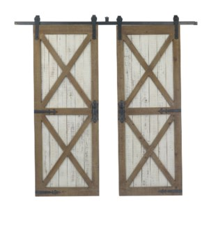 Double Galvenized Door