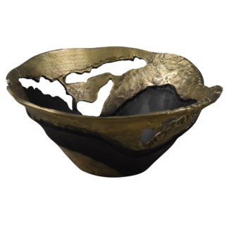Willow Gold Medium Pierced Bowl