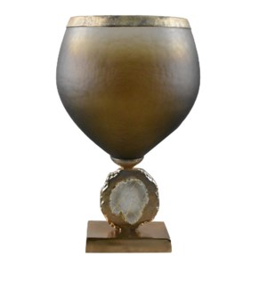 Large Esme Vase with Wrapped Agate Accents