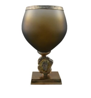 Medium Esme Vase with Wrapped Agate Accents