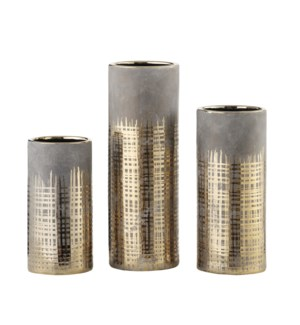 Beacon Cylinder Vases,Set of 3