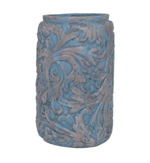 Large Damask Leaf Vase