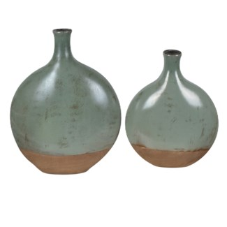 Dunleaf Oval Vases,Set of 2