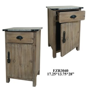 "17.25X13.75X28"" END TABLE, 1 PC PK/ 4.96'"