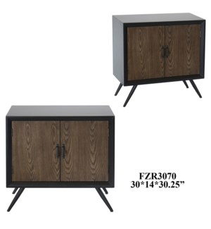 "30X14X30.25"" METAL W/WOOD CABINET W/1 SHELF, 1PC PK/7.76'"