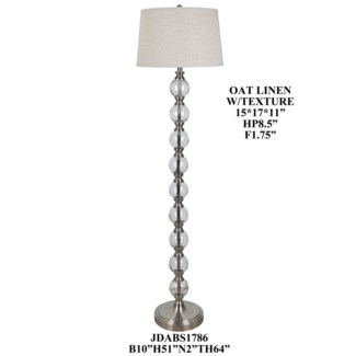 Glass/Metal Floor Lamp
