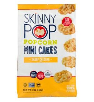 SKINNY POP MINI CAKE POPCORN SHARP CHEDDAR 5 OZ