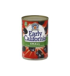 EARLY CALIFORNIA PITTED BLACK OLIVES SMALL 6oz