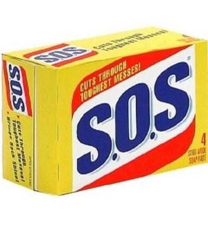 SOS SOAP PADS 4CT