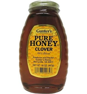 GUNTER CLOVER HONEY 32OZ