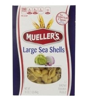 MUELLER'S LARGE SEA SHELLS 12 OZ
