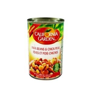 CALIFORNIA GARDEN FAVA & CHICKPEAS 16OZ