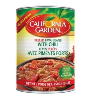 CALIFORNIA GARDEN SPICY PEELED FAVA 16OZ