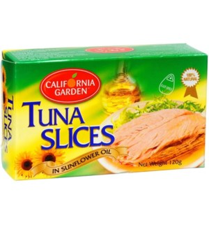 CALIFORNIA GARDEN SUNFLOWER OIL SLICED TUNA 120 G