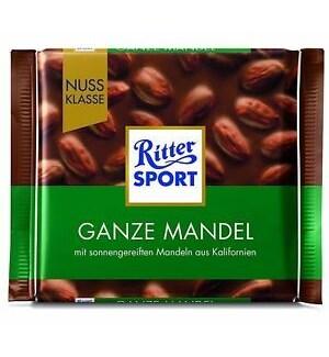 RITTER SPORT GANZE MANDEL WHOLE ALMOND 100 G