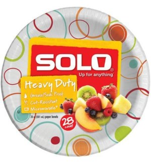 SOLO HEAVY DUTY PAPER BOWLS 20 OZ 28 CT
