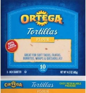 ORTEGA FLOUR TORTILLAS 10 CT 14.3 OZ