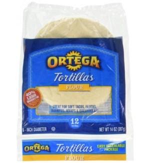 ORTEGA FLOUR TORTLLAS 12 CT 14 OZ