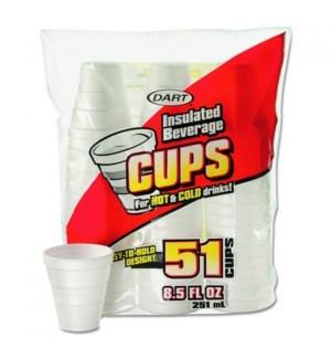 DART FOAM CUPS 8.5 OZ 51 CT (RED)