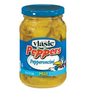 VLASIC MILD PEPPERONCINI PEPPERS 12 OZ