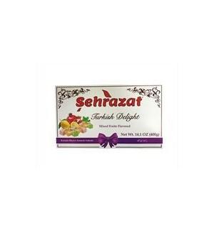 SEHRAZAT TURKISH DELIGHT W/MIXED FRUITS 400G