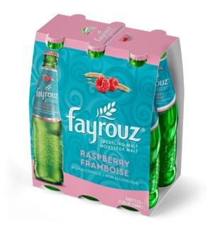 FAYROUZ RASPBERRY SPARKLING DRINK 6PK