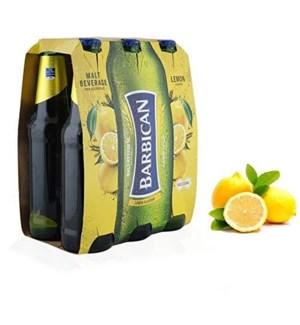 BARBICAN MALT DRINK LEMON 6 PK NON ALCOHOLIC
