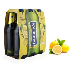 BARBICAN MALT DRINK LEMON 6 PK NON ALCOHOLIC