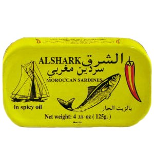 ALSHARK SARDINES HOT W/OIL 125G